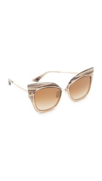 smoke sunglasses gold cream