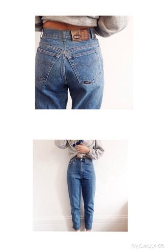 jeans vans blue vintage denim jeans