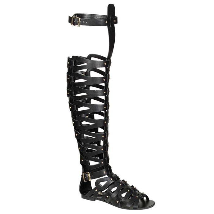 Ivy hera grecian gladiator sandals in black – flyjane