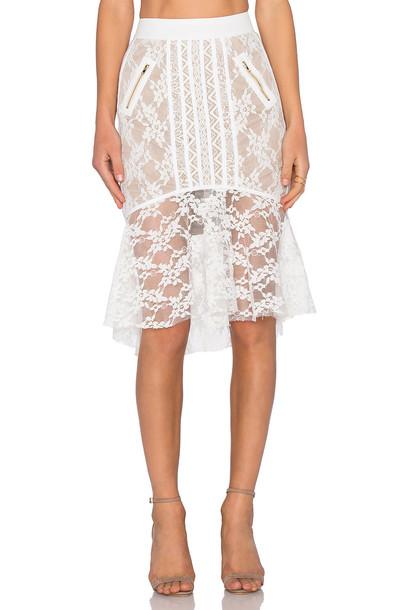BRONX AND BANCO skirt white