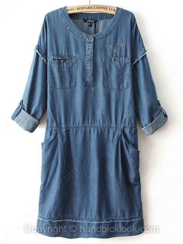 denim dress clothes dress