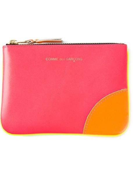 fluo zip new purse purple pink bag