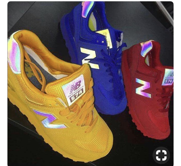shoes new balance red blue yellow rainbow new balance sneakers new balance 574