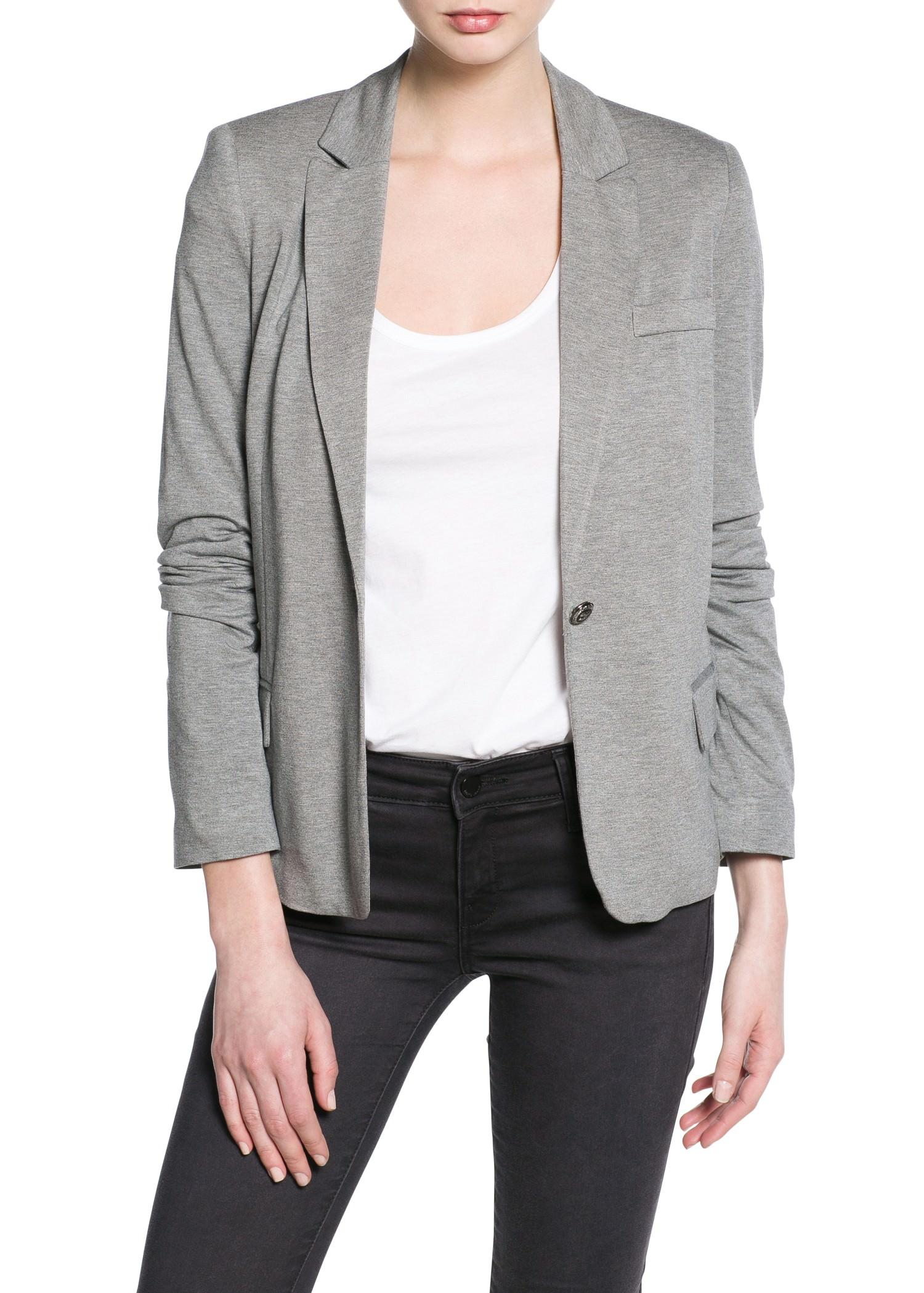 Tricot blazer - Dames | MANGO