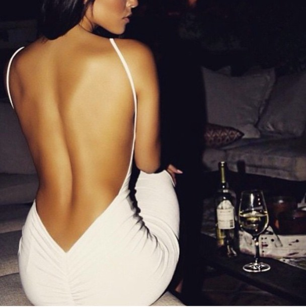 dress white dress open back dresses white homecoming sexy dress party dress
