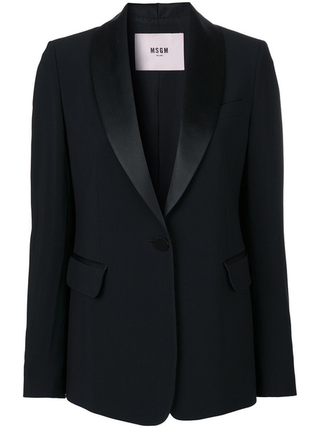 MSGM blazer women black jacket