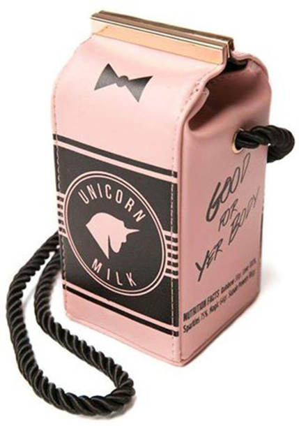 bag unicorn milk unicorn accessories acsessories pink unicornmilk unicornbag good for you nody good for you body pink bag pink unicorn good for your body unicorn bag