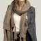 Chunky scarf with pockets - mocha