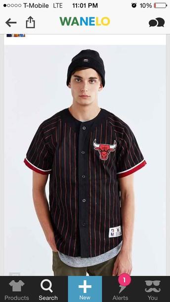 shirt bulls baseball jersey