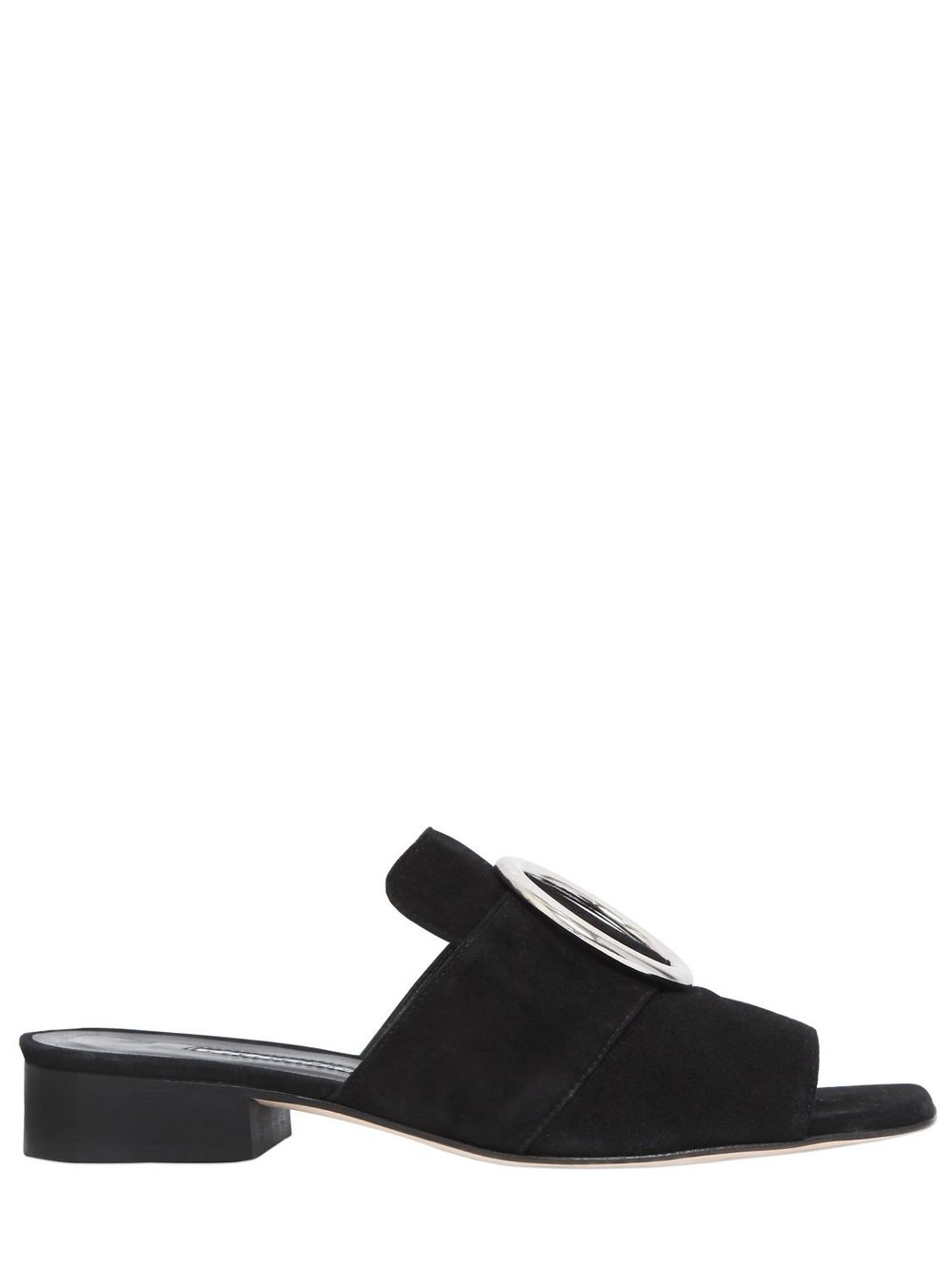 DORATEYMUR 25mm Harput Suede Slide Sandals in black