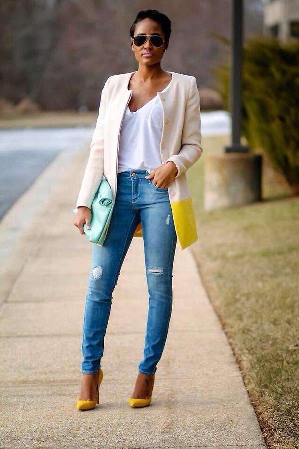 shoes coat jeans bag