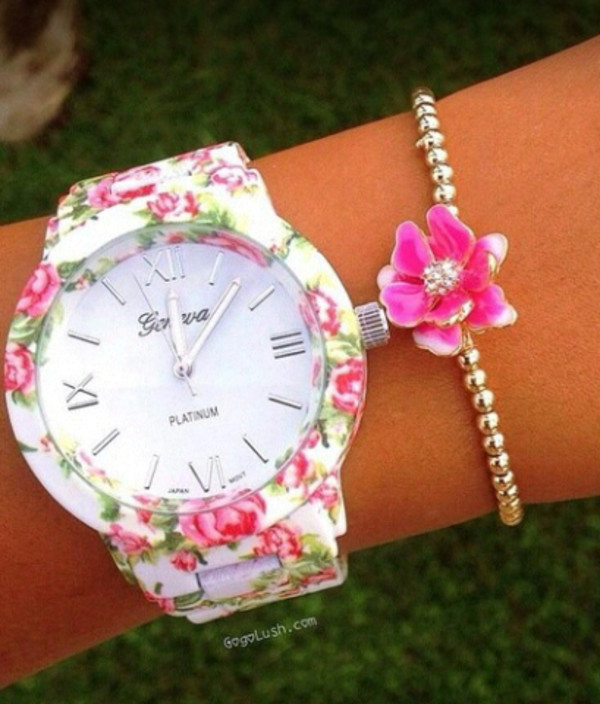 jewels floral watch watch vintage girl girly swag