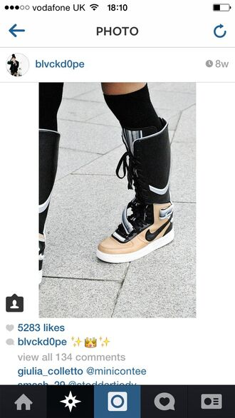 shoes nike shoes nike high tops nike boots dope knee high boots givenchy