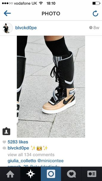 shoes nike shoes nike high tops nike boots dope knee high boots high top sneakers