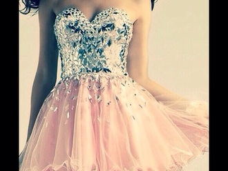 color dress pink dress pink silver silver dress prom dress