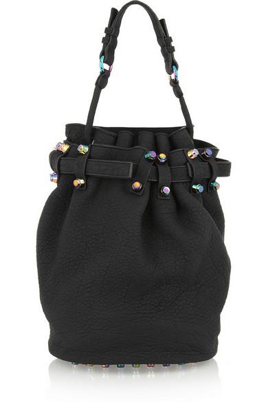 Alexander Wang|Diego textured-leather shoulder bag|NET-A-PORTER.COM