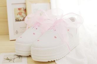 shoes platform shoes pink pastel harajuku