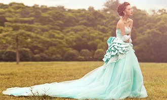 dress prom dress mint prom dress mint dress mint ruffle mint ruffles strapless long dress long prom dress princess dress