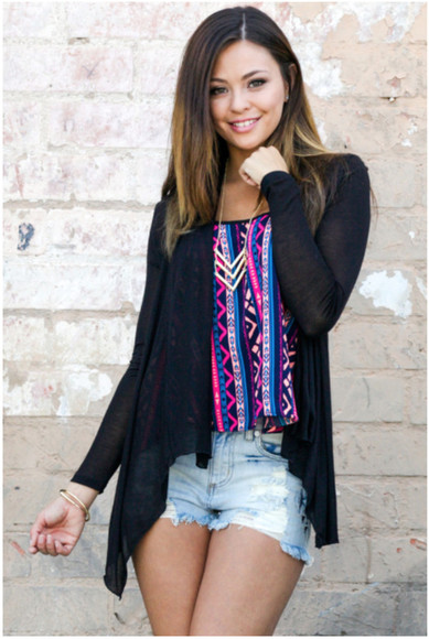 cardigan light soft summer cardigan summer outfits tribal pattern tribal pattern aztec aztec pattern denim
