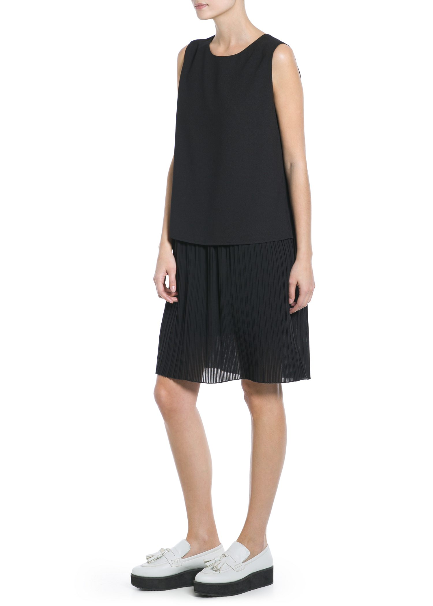 Contrast bodice dress - Dresses for Women | MANGO