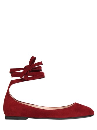 flats suede dark dark red red shoes