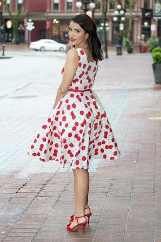 dress white dress polka dots