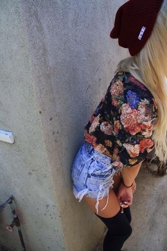 shirt rose skater skater girl neff