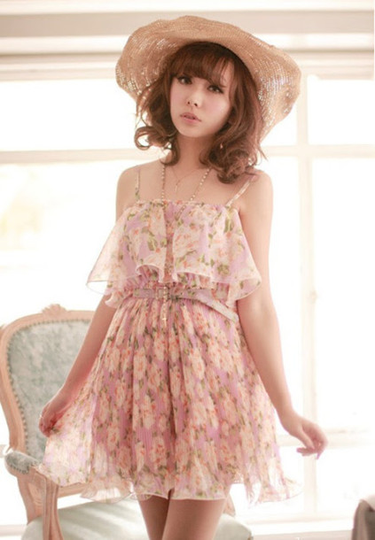 dress dress rose flowers