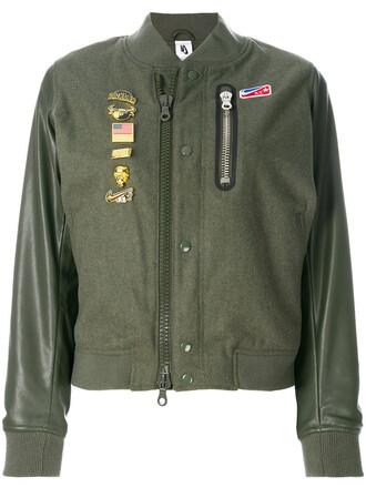 jacket women wool green