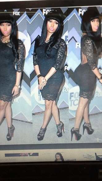 dress nicki minaj style black dress black lace dress