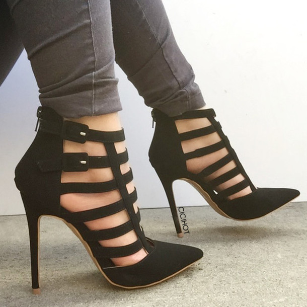 Strappy Pointed Heels