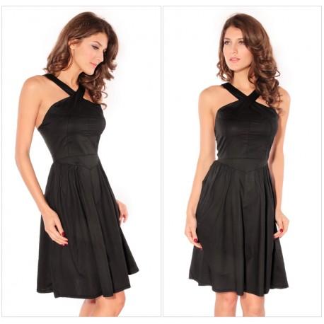 Sexy sleeveless Black vetro women dress lml6027 - lol-malls - Trustful Online Shopping for Women Dresses
