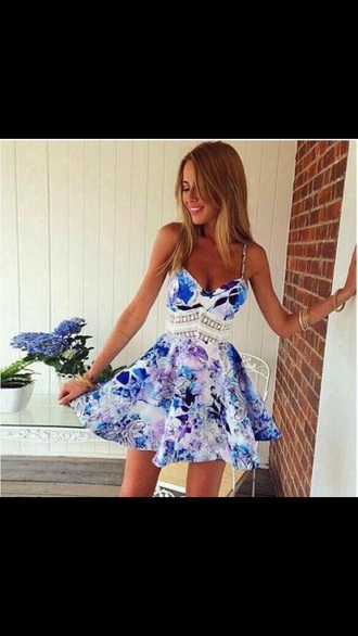 dress summer dress purple white blue lace dress