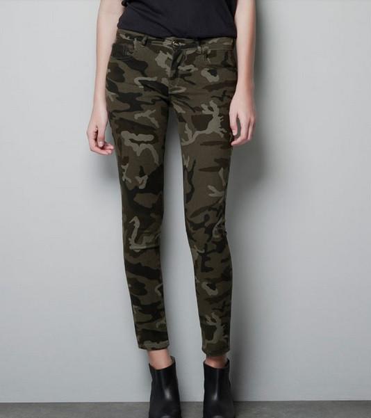 Military uniform jeans
