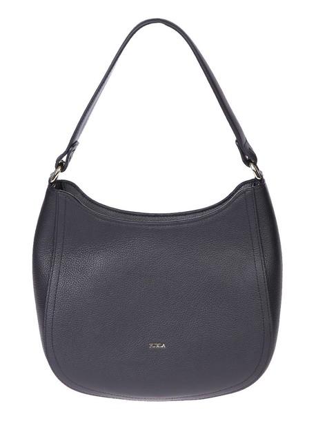 Furla bag leather bag leather black