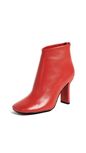 Jeffrey Campbell ankle boots red shoes