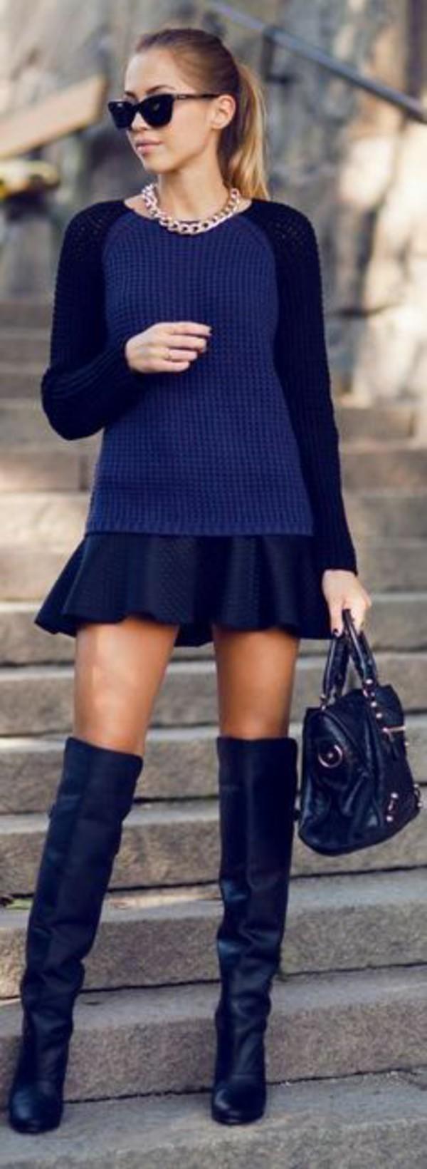 Ваша цель темно синие сапоги с черным коротким платьем планируете заниматься