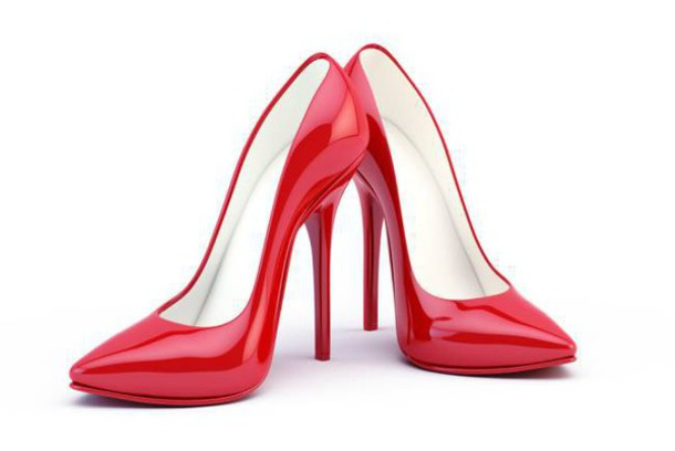 shoes red high heels high heels heels red shinny heels patent shoes pointed toe pumps all red wishlist