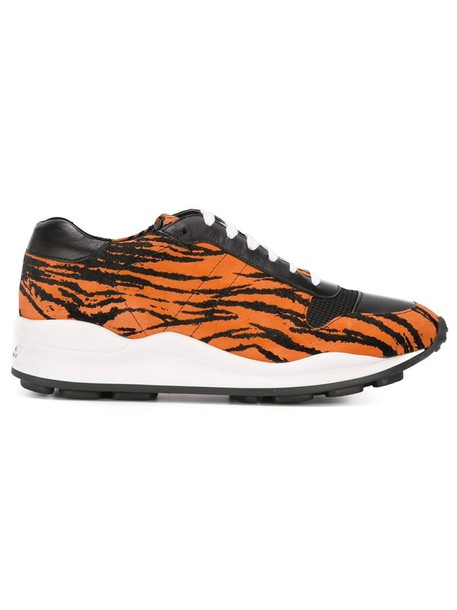 opening ceremony tiger sneakers lace yellow orange shoes