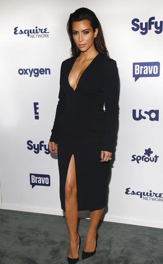 dress black dress kim kardashian