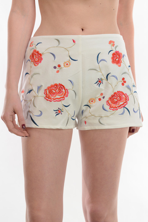 Floral Embroidered Short – Shop Compulsive