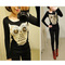 Unique! womens long sleeve sequins owl print hot knitwear pullover jumper blouse | ebay
