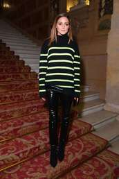 sweater,olivia palermo,blogger,fashion week,fall outfits