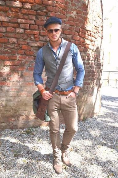 folk vest pants shirt jacket