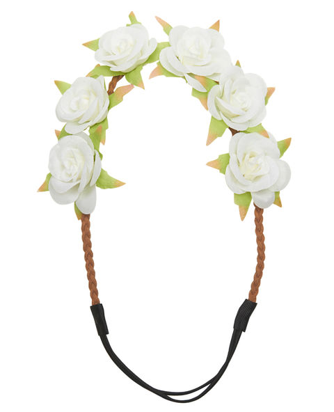 Tearose Flower Crown Headwrap | Wet Seal