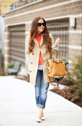 dress corilynn blogger coat shirt sweater shoes jeans bag