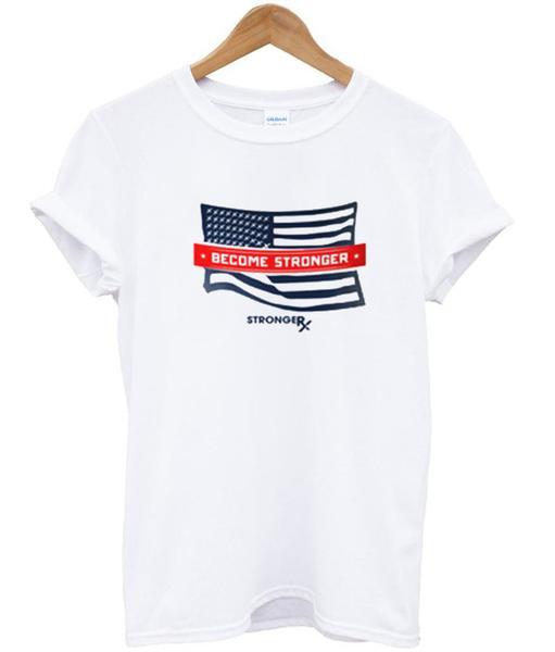 strongerRX USA flag shirt