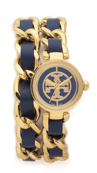 mini watch gold navy jewels