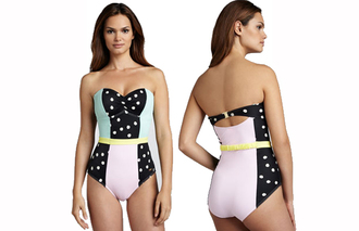 swimwear cute clothes pastel dots