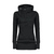 Draw String Beam Waist Korean Style Cotton Women Hoodies - Black on Luulla